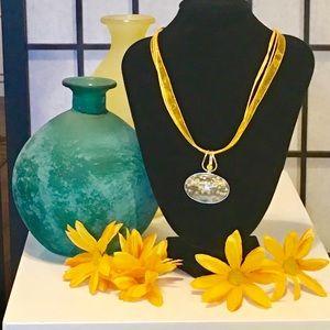 "Yellow ""flower-like"" 925 Pendant"
